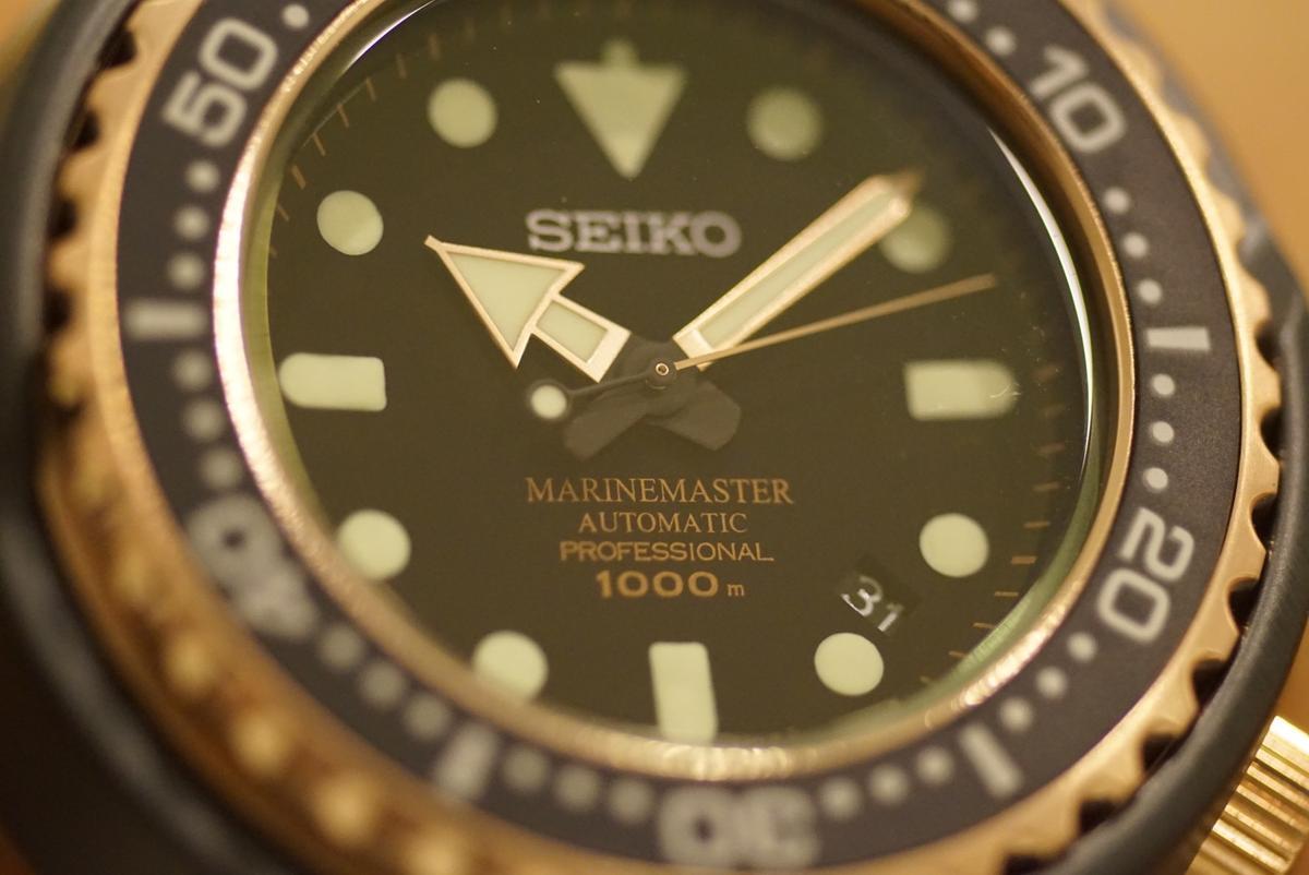 Seiko的專業潛水錶Marinemaster Professional就具備水下1000公尺的防水能力。