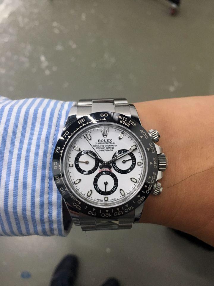 勞力士今年非常搶手的白面陶瓷錶圈Daytona。
