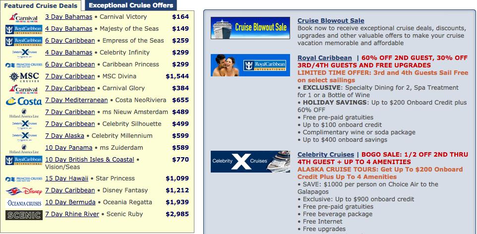 不論在台灣或國外旅行社網站上挑選郵輪產品,最好都要貨比三家(翻攝網路)
