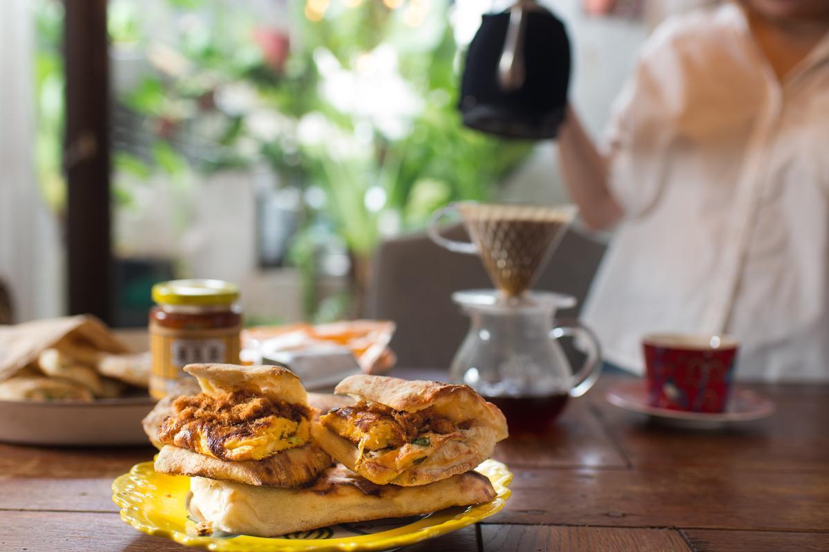 在家吃早餐是許心怡一天之中最享受自我的時光。