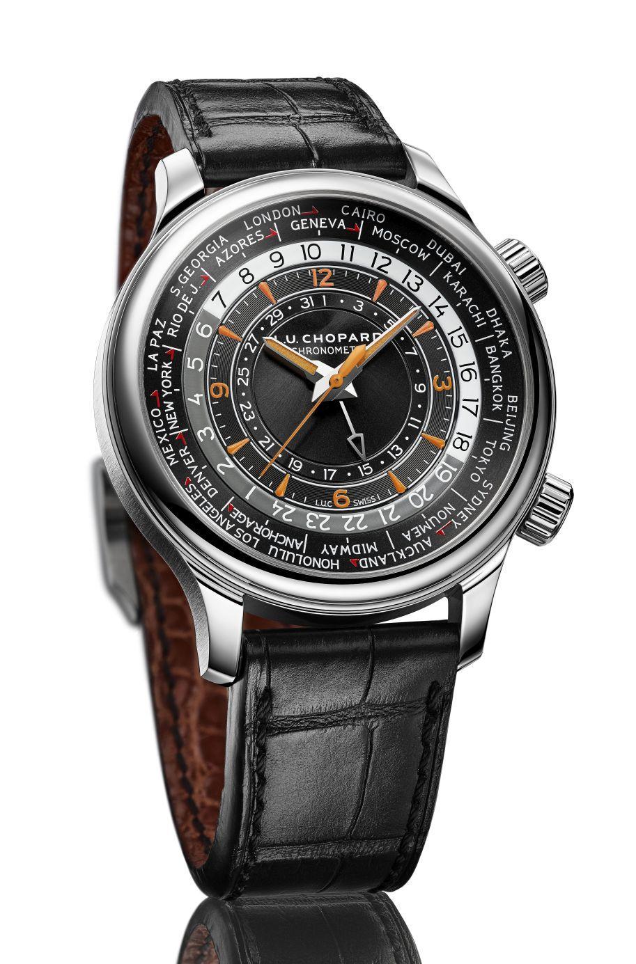 蕭邦L.U.C Time Traveler One世界時區腕錶,不鏽鋼版本,定價NT$471,000。