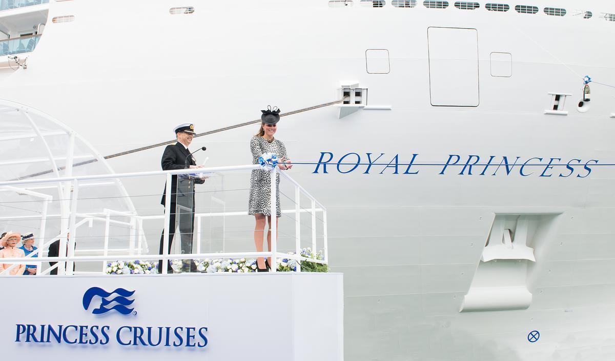 西元1984年,公主遊輪邀請戴安娜王妃為皇家公主號命名,時隔29年,2013年再邀請凱特王妃擔任教母,頗有世代傳承意味。(圖片提供:公主遊輪)