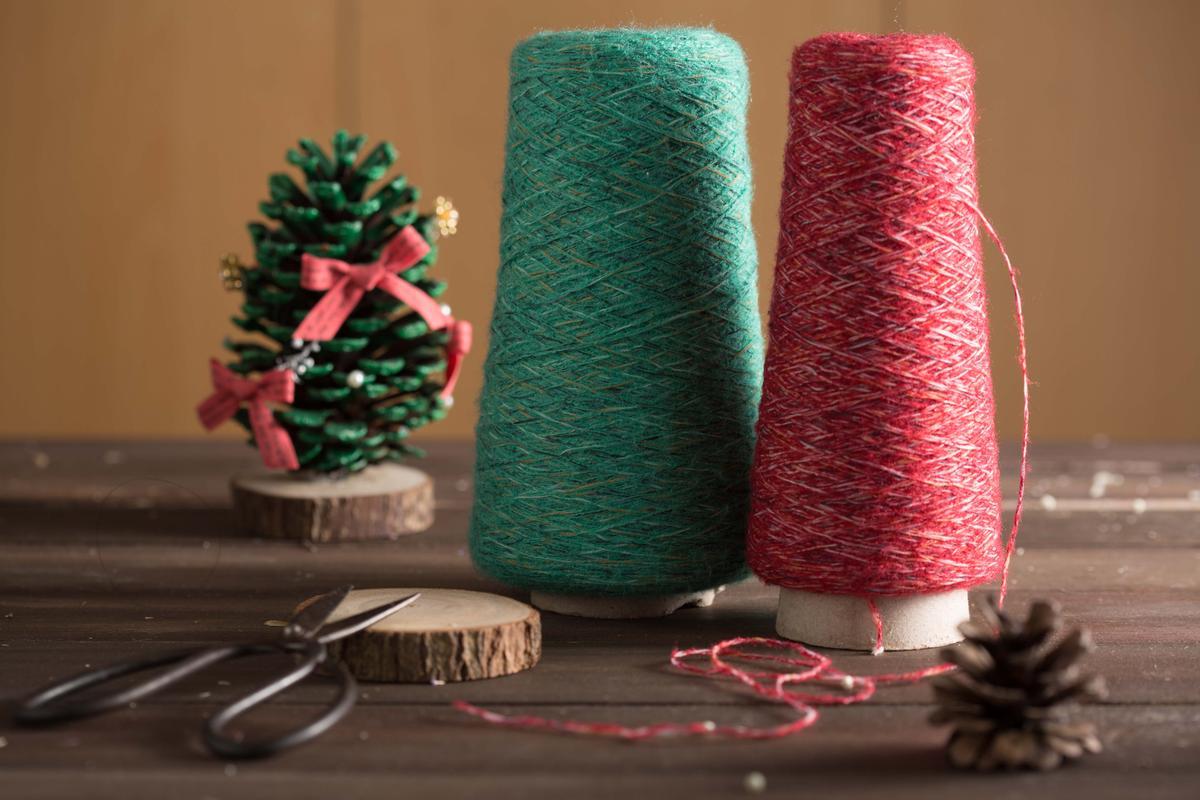 同樣購於福和跳蚤市場的毛線,打算用來製作聖誕節小物,兩捆才50元,超級划算!