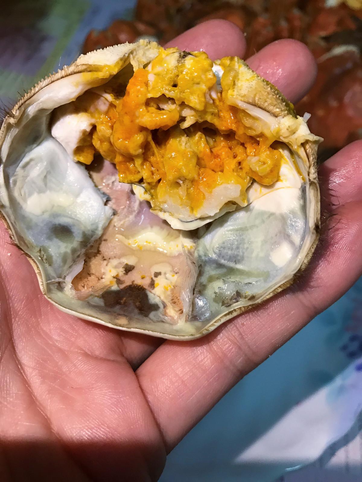 蟹黃蟹膏,真的不是小朋友吃得懂的味道。
