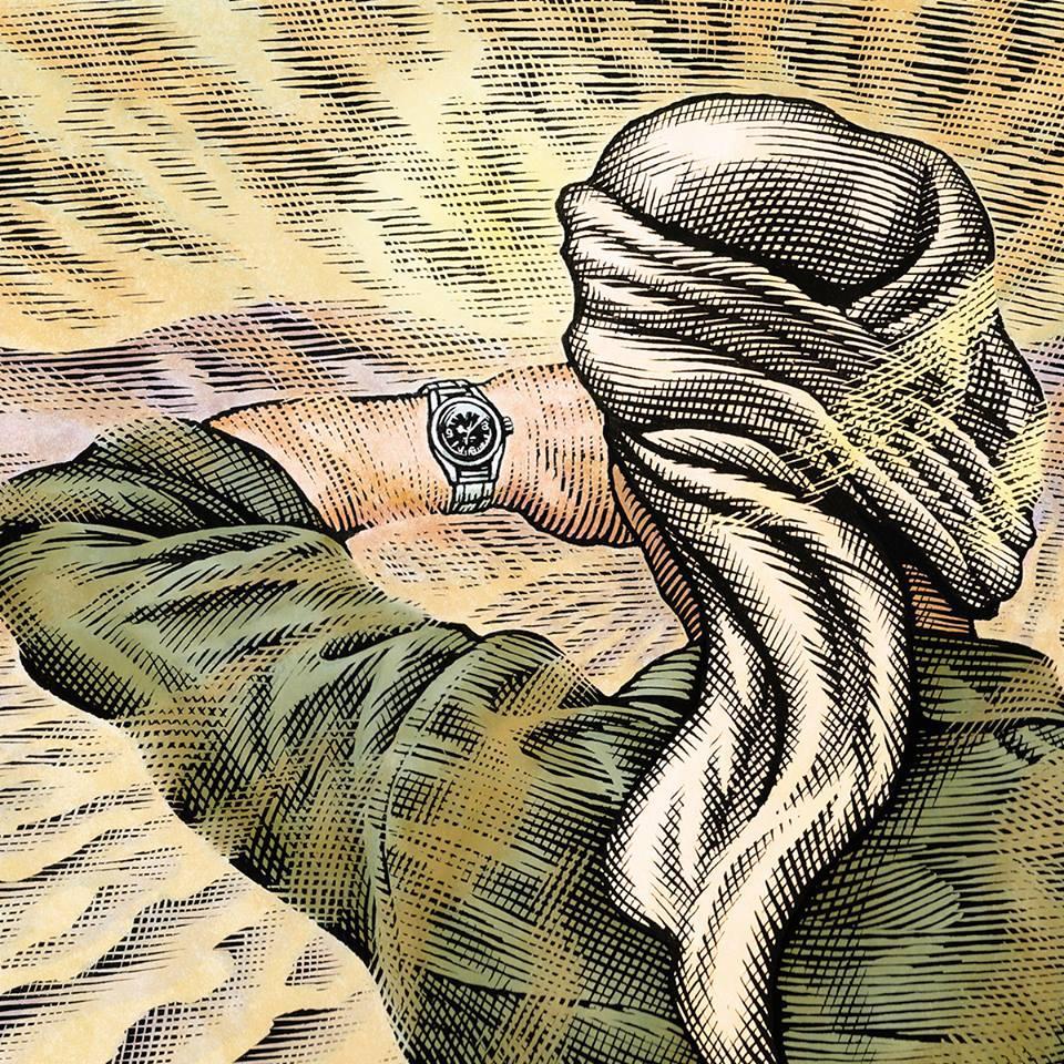 探險家H.-C. Golay戴勞力士探索撒哈拉沙漠。(勞力士提供)