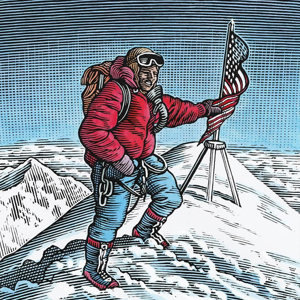 國家地理學會駐會探險家Johan Reinhard登上聖母峰的示意圖。(勞力士提供)