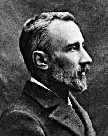 發現壓電效應的皮埃爾.居里(Pierre Curie)。
