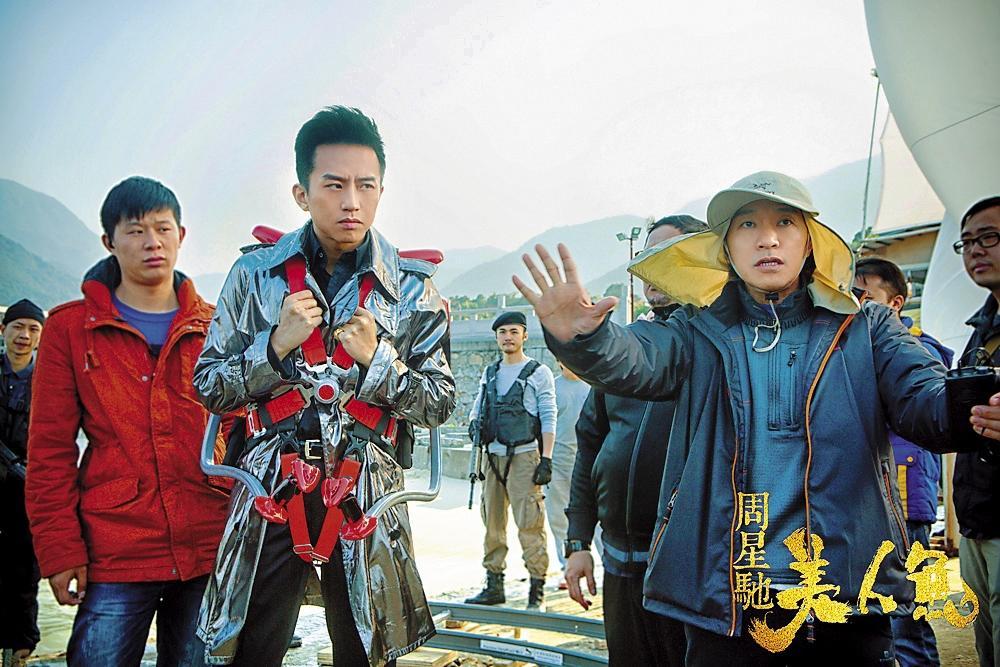 周星馳(右)執導的《美 人魚》因為大陸片配額 問題無法在台上映,遭粉絲抗議。(愛奇藝提供)