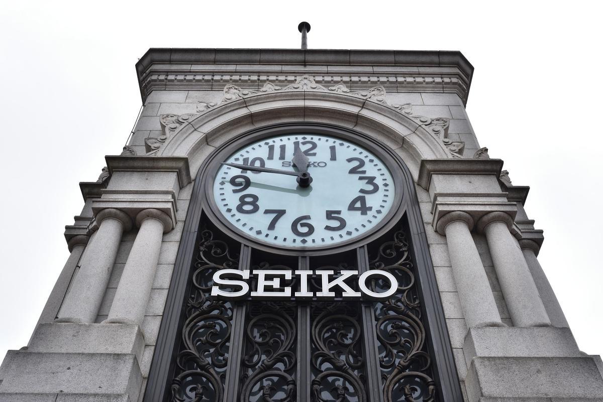 1894年創業的SEIKO控股家大業大,除了起家的鐘錶產業之外,還跨足了百貨業(銀座和光百貨)。圖為銀座和光百貨頂樓的鐘塔。