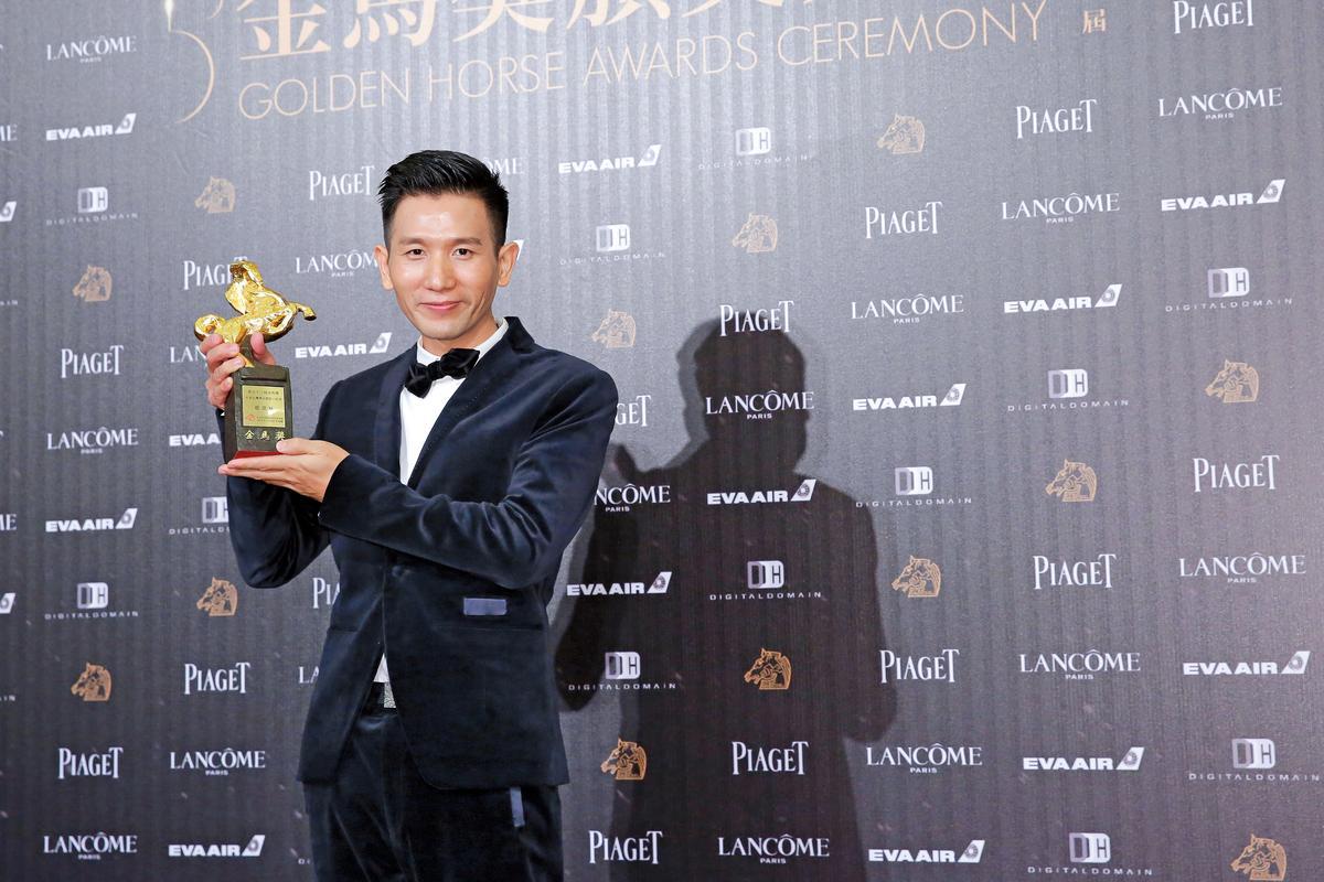 趙德胤對國片的付出與努力,使他獲頒2016金馬獎年度台灣傑出電影工作者。(攝影組攝)