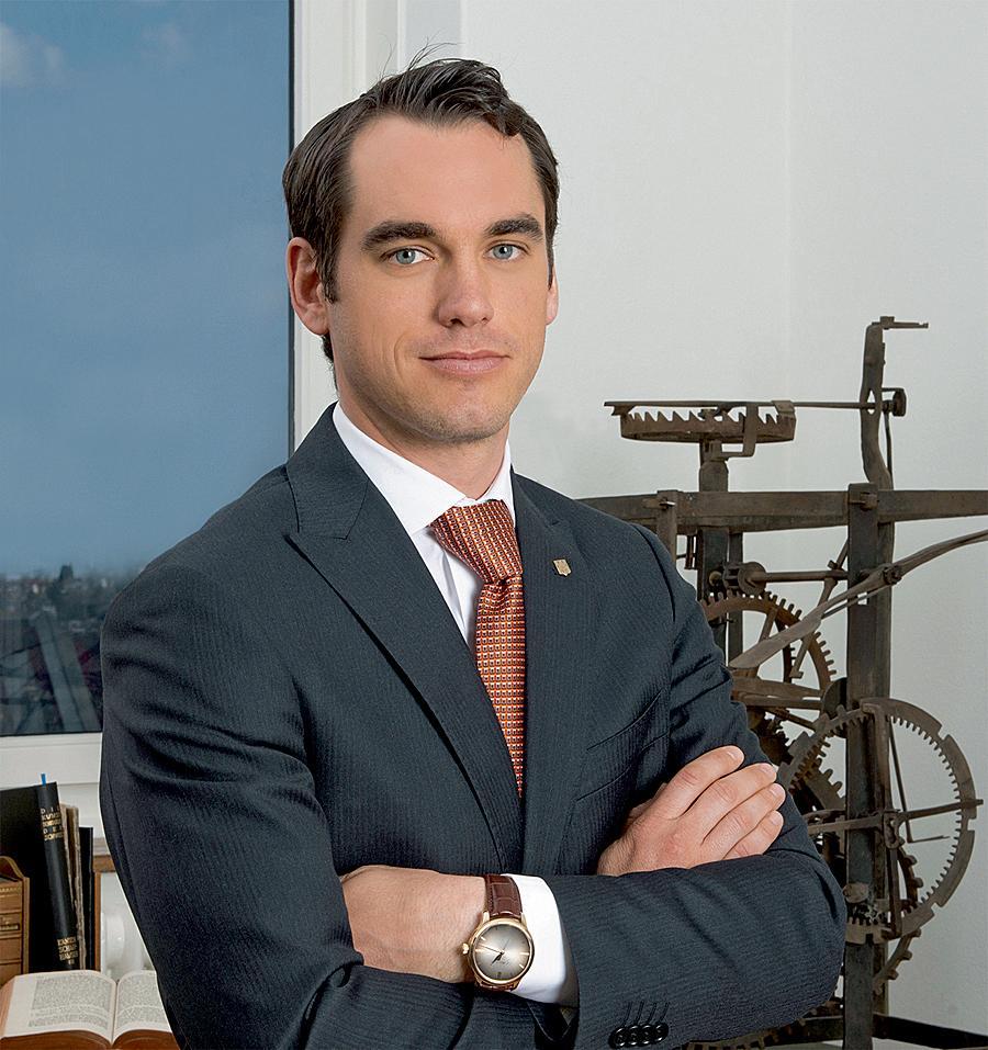 H. Moser & Cie.品牌執行長Edouard Meylan,看來頗年輕氣盛。