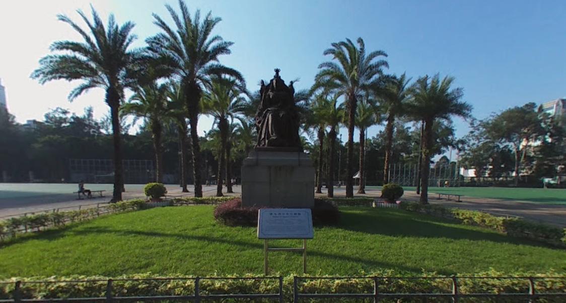 公園裡頭的維多利亞女皇銅像是其地標 。(圖片來源/google map)