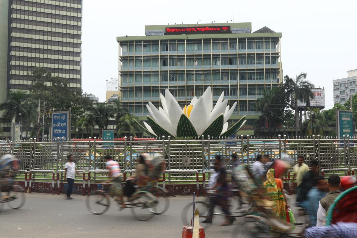 孟加拉央行遭駭客盜走8100萬美元(圖為孟加拉首都達卡的央行大樓外觀,東方IC)