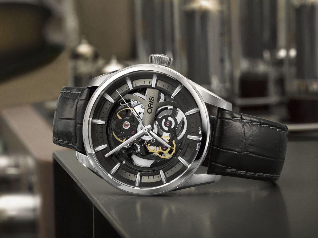 ORIS Artix Skeleton 不鏽鋼錶殼/錶徑39mm/ORIS 734自動上鍊機芯/動力儲存約38小時/時、分、秒指示/藍寶石水晶鏡面、透明底蓋/黑色皮錶帶/防水100米/約NT$83,000