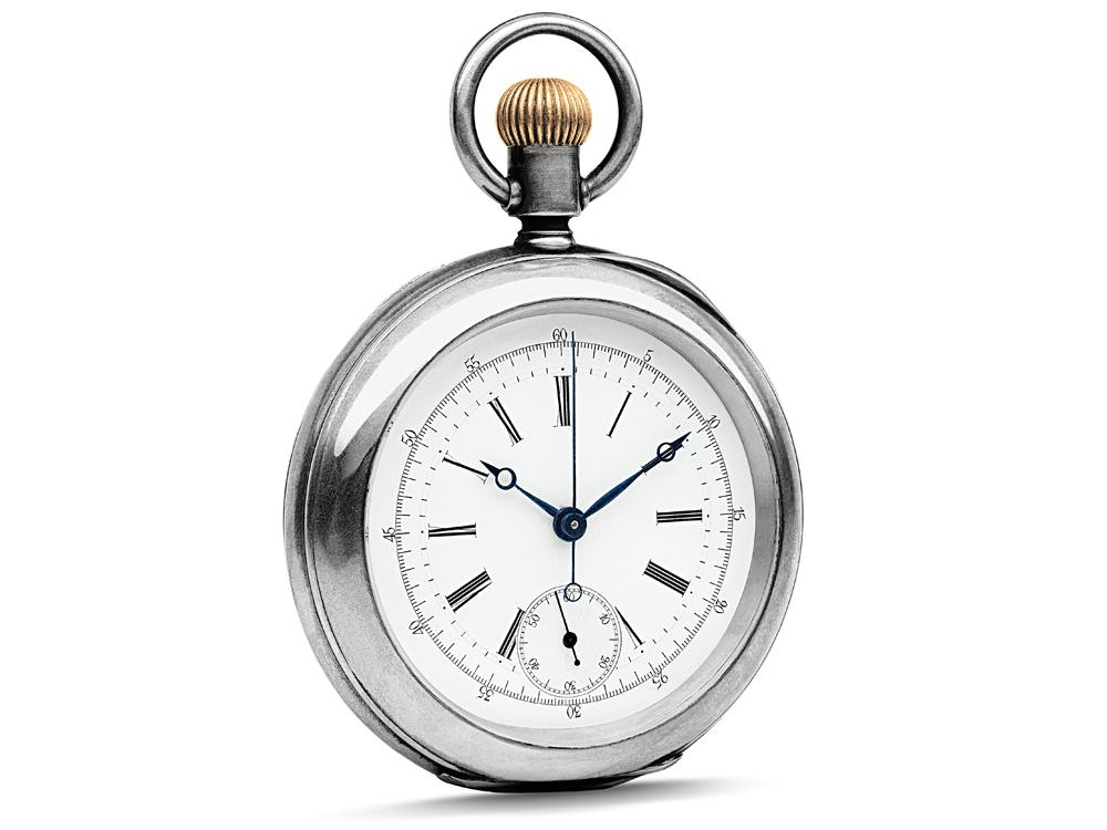 1878年浪琴與知名機芯設計師H.A.Lugrin合作,開發出品牌第一只具有計時碼錶功能的懷錶,裝配L20H計時碼錶機芯,專為馬術、賽馬賽事所打造。