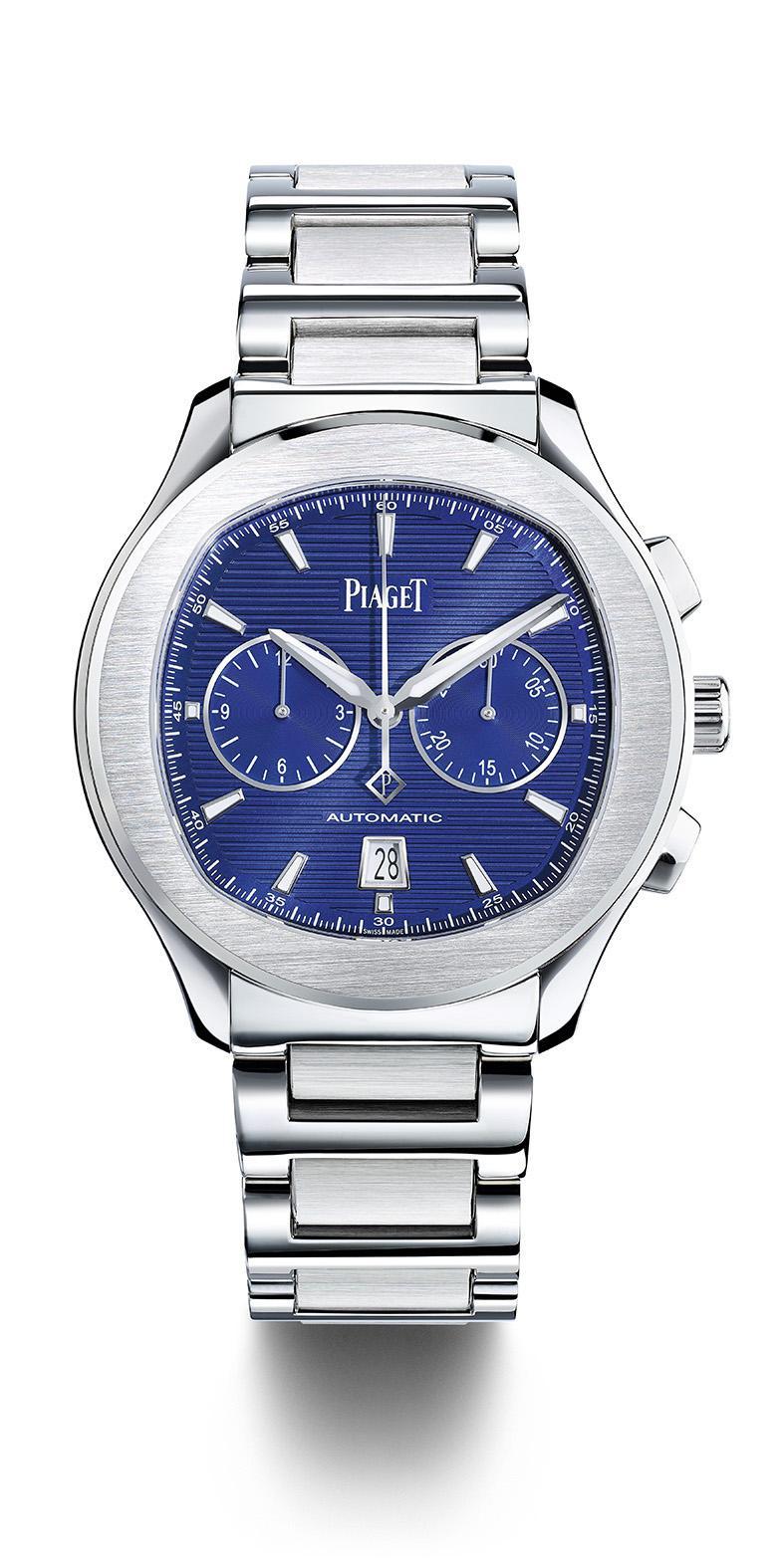 PIAGET Polo S Chronograph 1160P自動上鍊機芯/不鏽鋼陶瓷材質/錶徑42mm/時間、日期顯示/計時碼錶功能/藍寶石水晶錶鏡、底蓋/防水100米/建議售價:NT$ 467,000