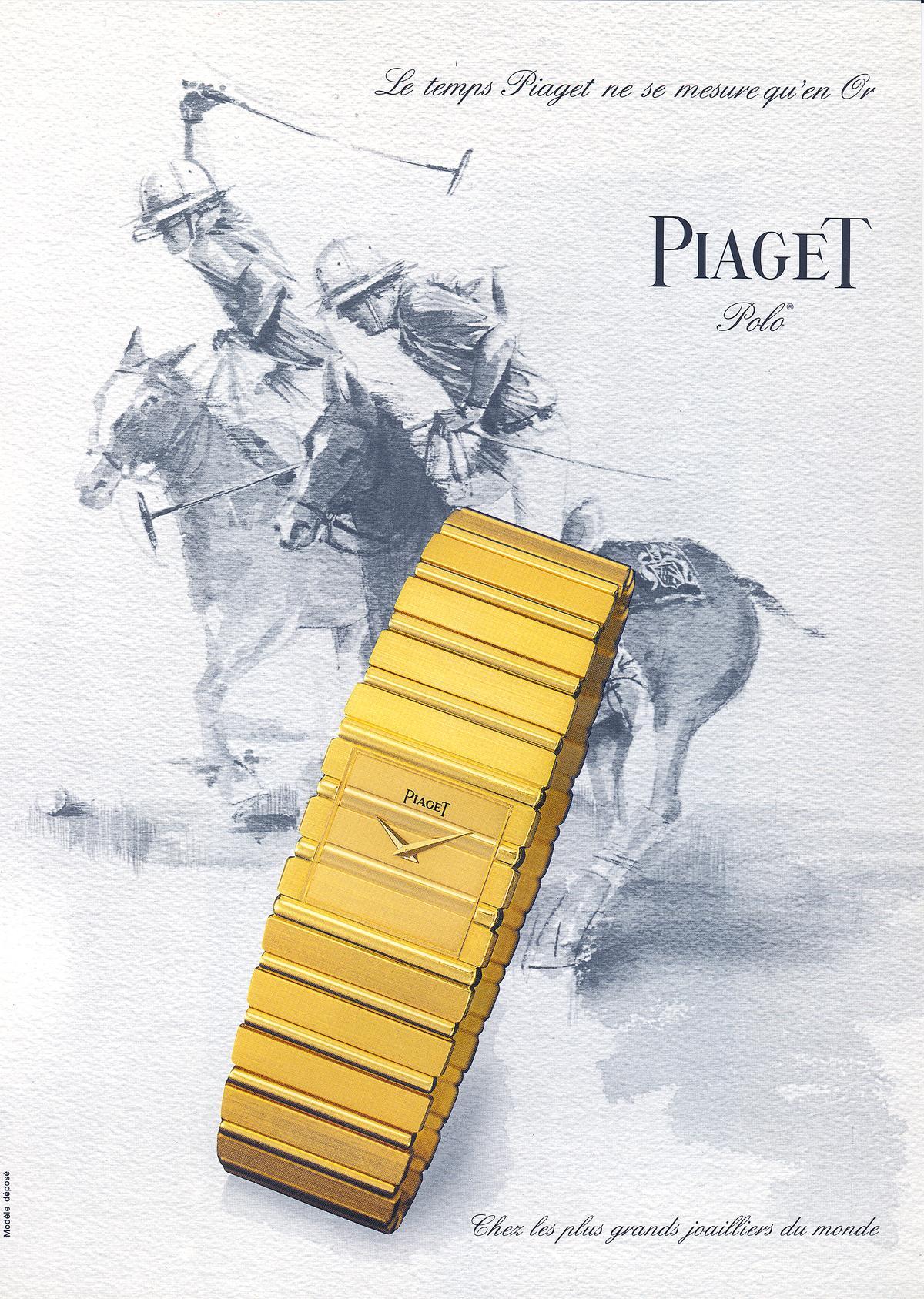 伯爵的POLO系列源自於1979年當時的總裁Yves G. Piaget對於馬匹的深厚情感,同時也希望打造出一款更有時尚感的高階運動腕錶。