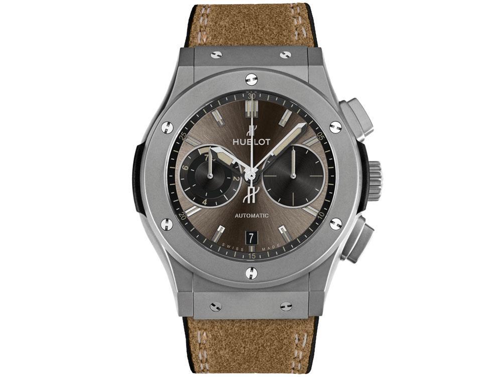 HUBLOT Classic Fusion Chukker HUB1141自動上鍊機芯/鈦金屬材質/錶徑45mm/時間、日期顯示/計時碼錶功能/藍寶石水晶錶鏡、底蓋/防水50米/建議售價:NT$396,000