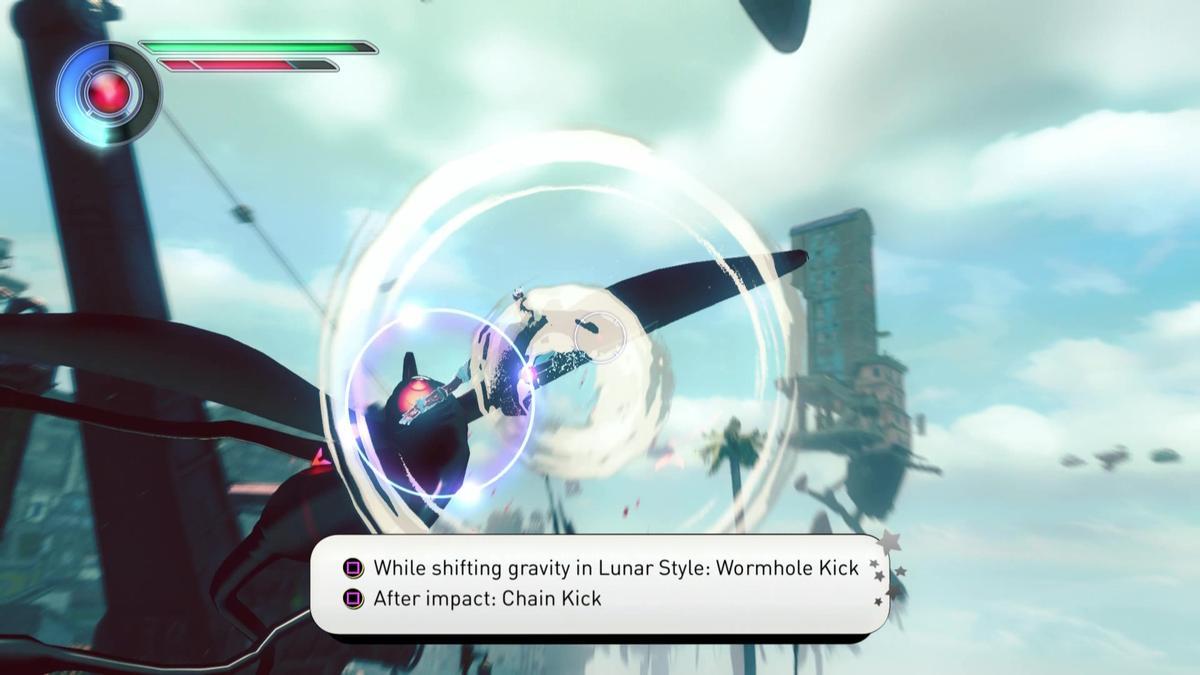 在「月球模式」中,凱特的動作變得迅速,能有效擊倒行動敏捷的敵人。(圖片來源:體驗版實機截圖)