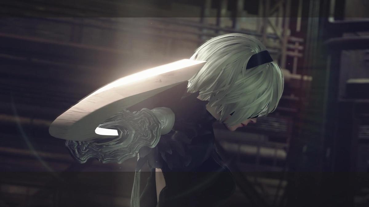 日語版「2B」的配音員石川由依,是曾替《進擊的巨人》動畫配音的知名聲優。(圖片來源:體驗版實機截圖)