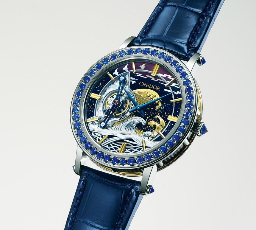 SEIKO今年推出集團底下第一只陀飛輪腕錶,還用了「浮世繪」大師葛飾北齋的名畫做裝飾,限量8支,第一支還是在台灣賣掉的。