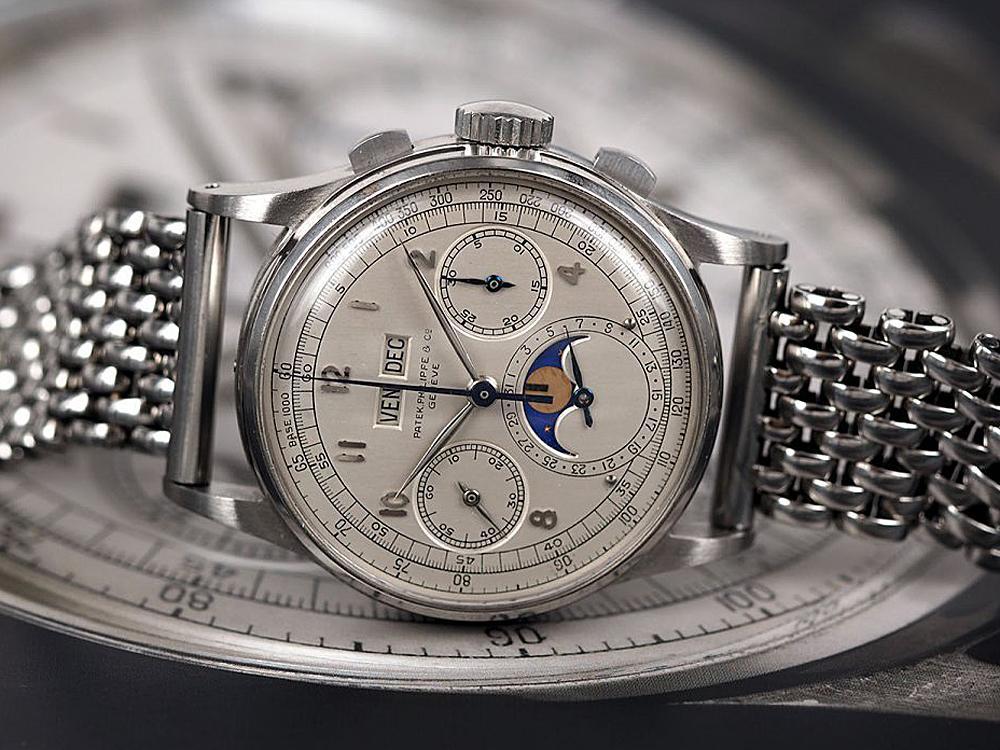 這只於1943年生產的PATEK PHILIPPE Ref.1518不鏽鋼萬年曆腕錶,竟然創下了高達約三億五千萬台幣的成交天價(K金錶表示遺憾)!