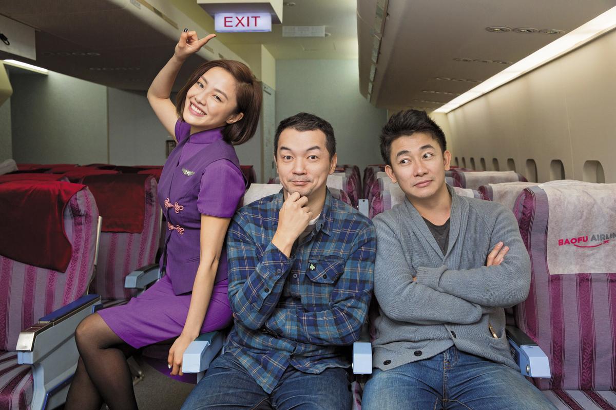 《空姐忙什麼》爆紅,該歸功於這三位靈魂人物:(左起)扮演空姐的張允曦小8、常演奧客的全聯先生邱彥翔和幕後主腦巫秀陽。