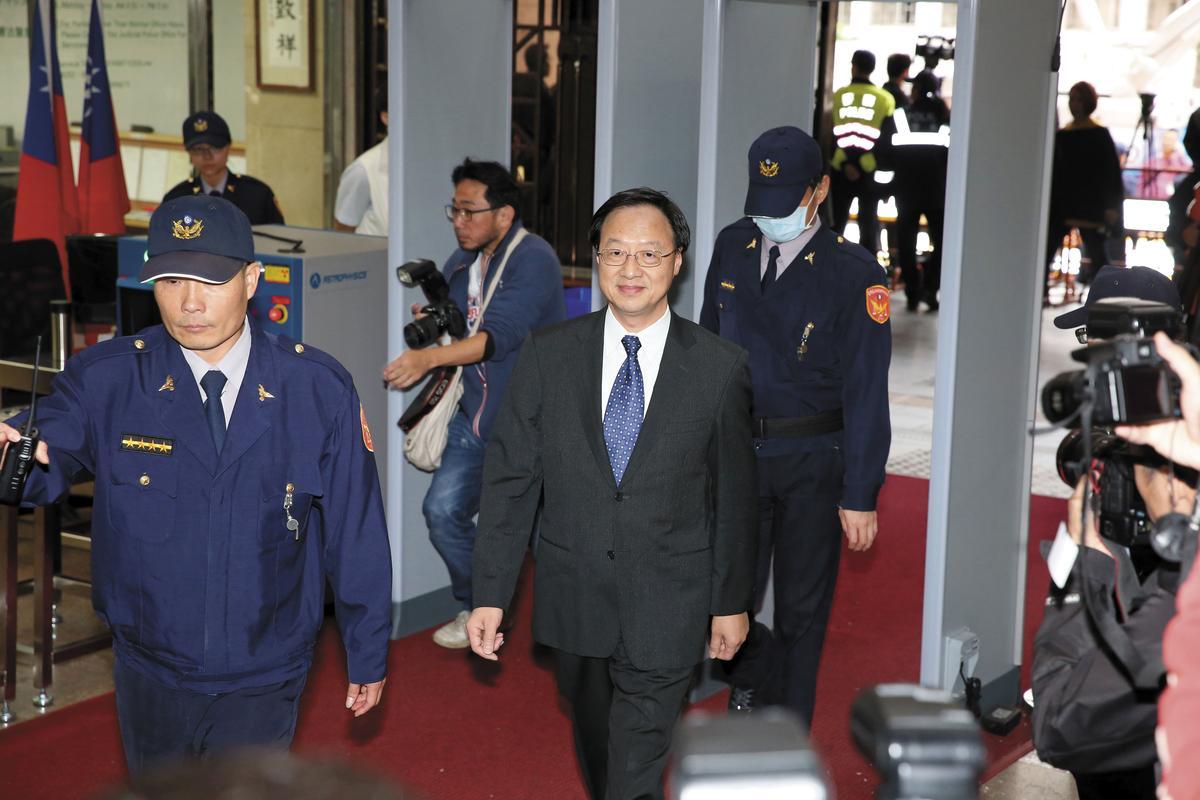 前行政院長江宜樺以證人身分出庭。
