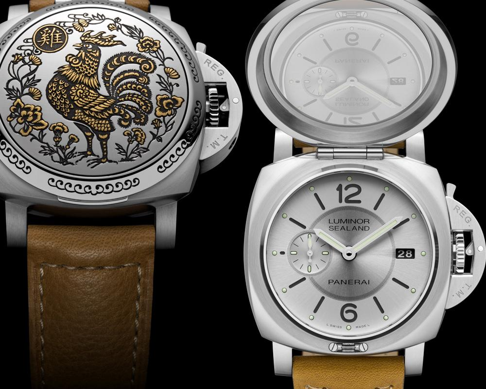 沛納海有做生肖錶,而且還特別用了Luminor 1950 Sealand的錶殼樣式,上蓋直接當做畫布讓工匠們發揮,透過sparsello古老技藝手工雕刻出雄雞圖案。限量99枚,定價NT$ 769000。