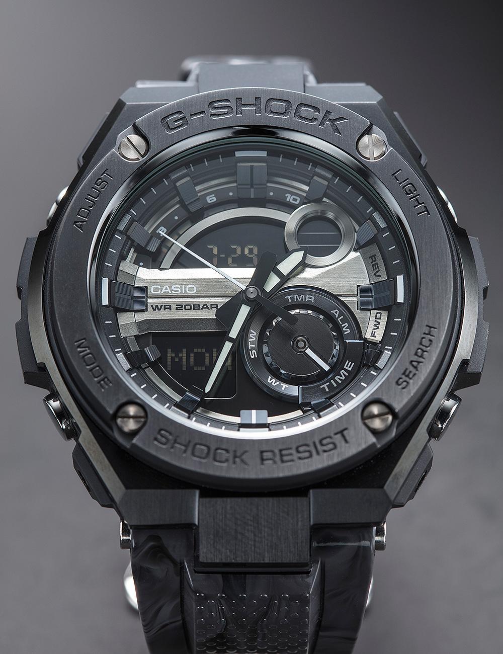 G-SHOCK G-Steel繼承GShock耐操、多功能的特色,但加上鋼為錶殼物料,降低塑膠感之外,也提升了男人味。建議售價NT$11,500。