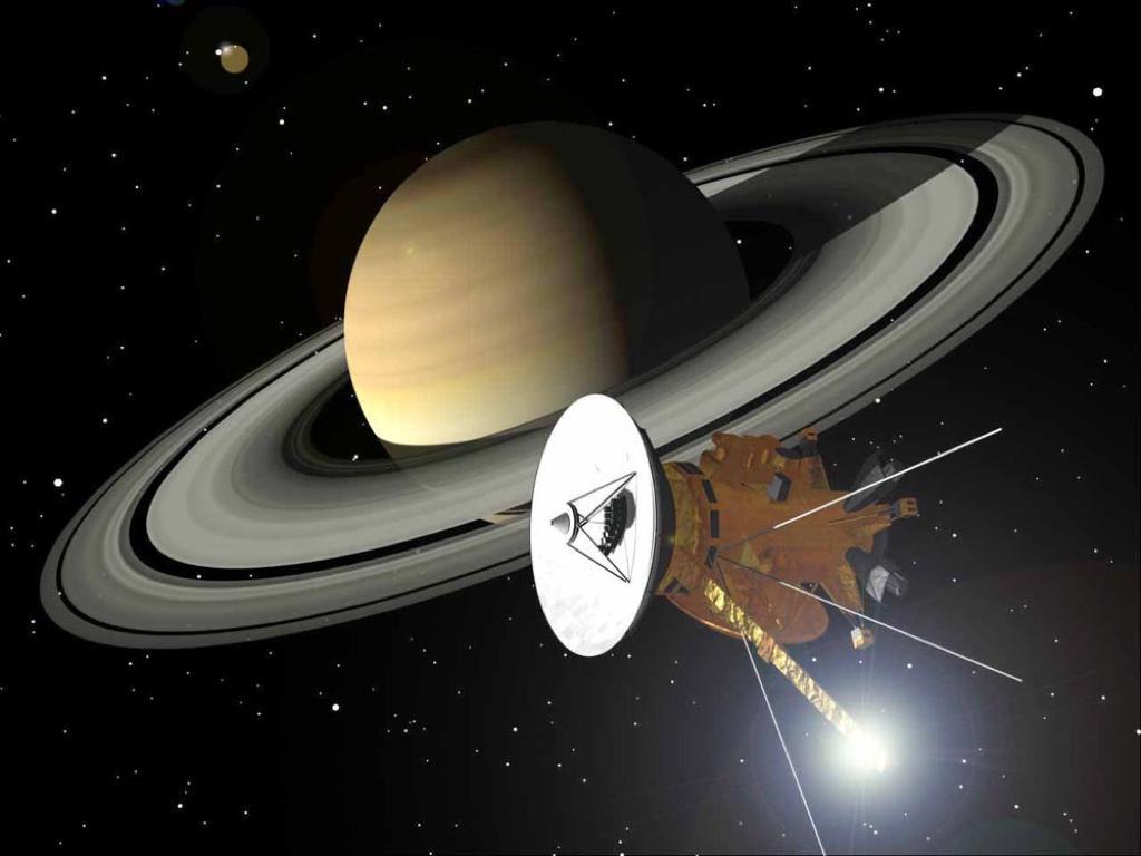 卡西尼號太空船在2016年底進入土星掠環軌道(ring-grazing orbit),即將在燃料耗盡之前,展開衝入土星前的最後一搏。(畫面取自NASA)