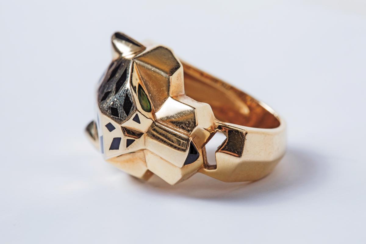Cartier美洲豹戒指。約NT$700,000