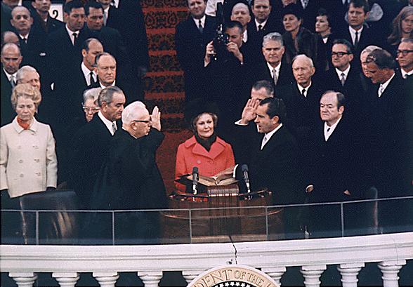 1969年尼克森第一次就任美國總統,曾伴隨著街頭大規模的抗議活動。(取自白宮網站)