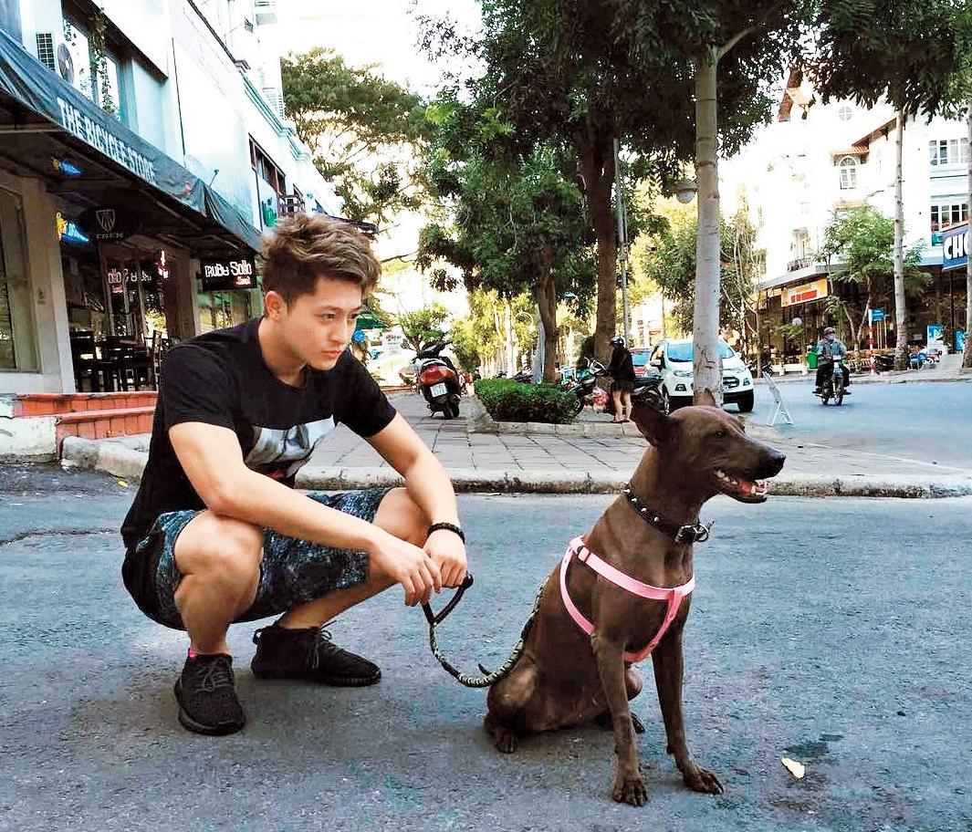 呂晉宇跟其他住在越南的台灣同鄉們結為好友,朋友回台就會幫忙看家、照顧狗狗,感情超好。(翻攝自Harry Lu IG)