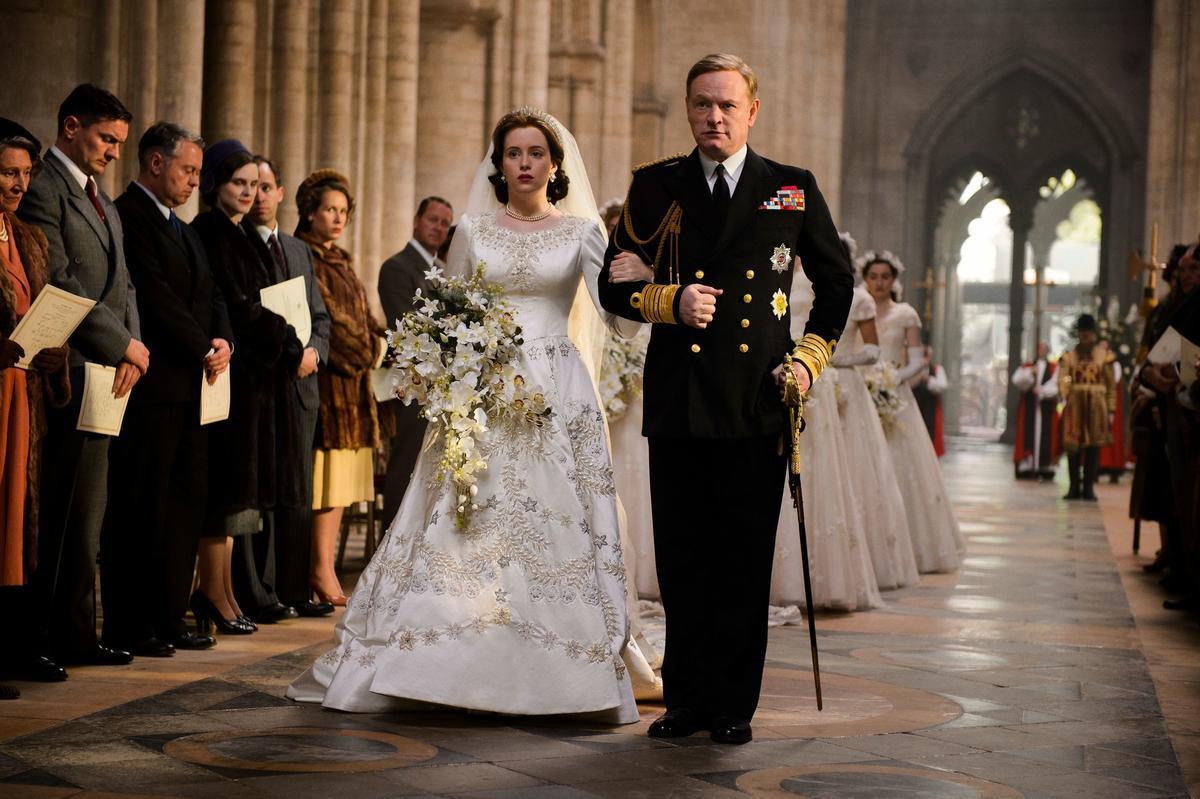 《王冠》描述英女王登基的故事,是質感精良的英劇。(翻攝網路)