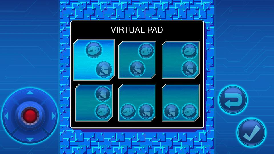 遊戲中提供了多組虛擬按鍵配置。(圖片來源:遊戲實機截圖)