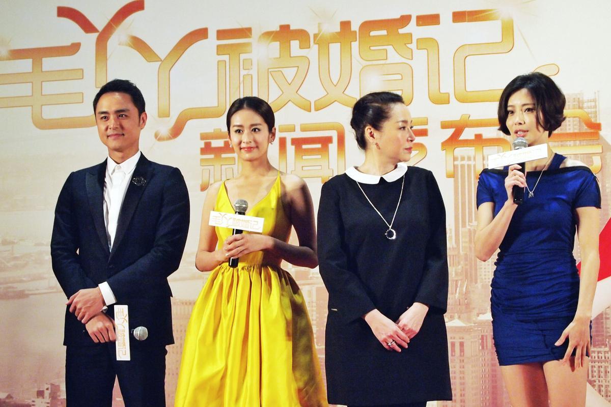 明道(左一)和中國女星穎兒(左二),2015年拍戲時,曾傳出共用暖暖包和情侶吵架緋聞。(明道工作室)