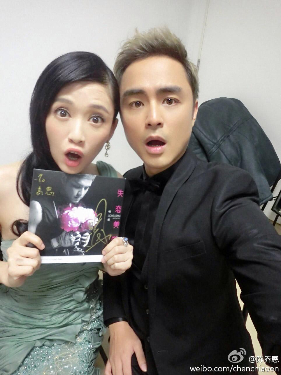 明道和陳喬恩當年合作《王子變青蛙》,成了最成功的偶像劇,兩人如今都已是中國一線紅星。(翻攝自陳喬恩微博)