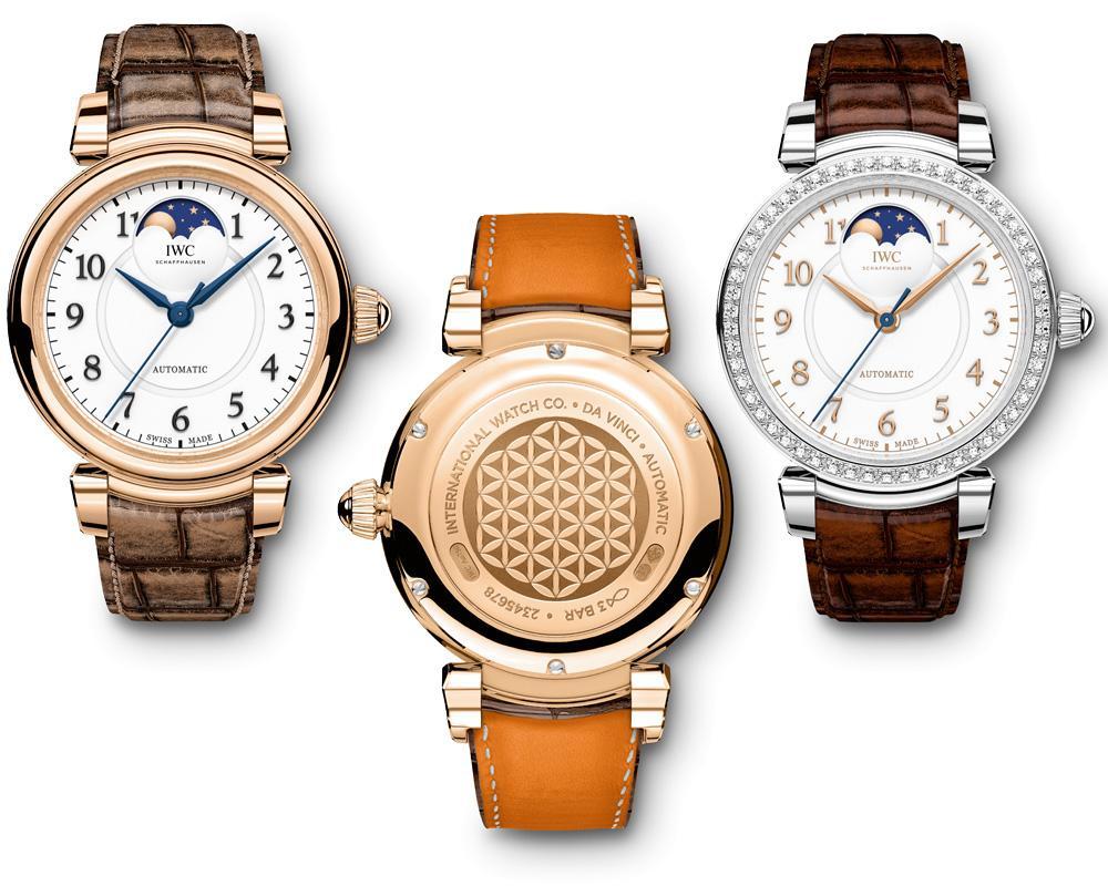 品牌的月相功能小尺寸腕錶其實在前年就已經面世,如今IWC將此功能重新運用到達文西系列。背底蓋則是象徵此系列的「生命之花」圖案。