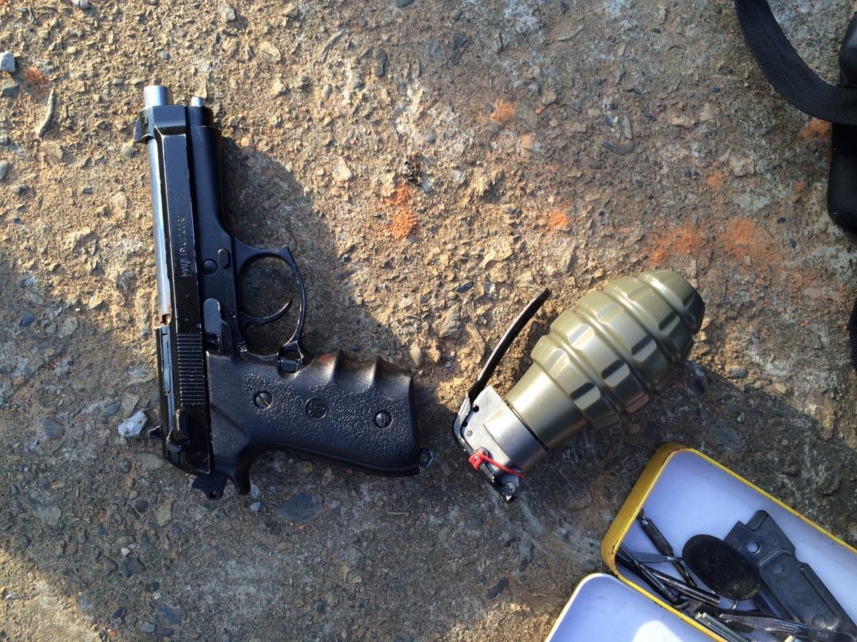 警方在清水發現犯案槍枝和手榴彈,顯示吳嫌原想與警方駁火拼鬥。