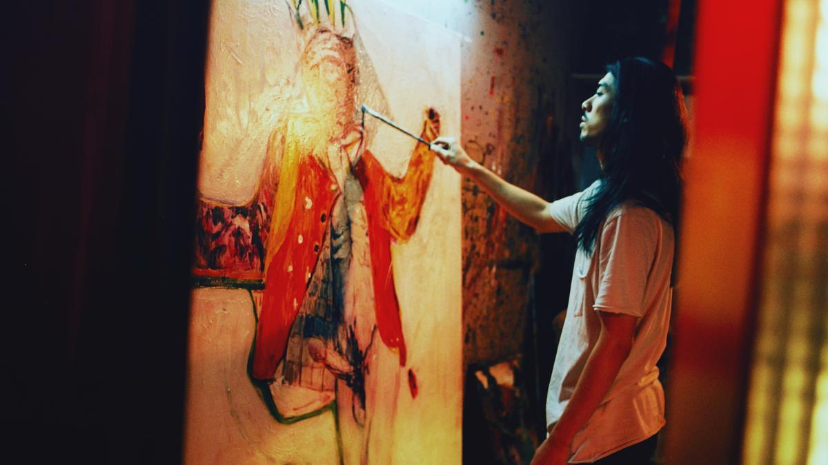 《自畫像》被形容為「充滿感官、華麗、駭人、挑逗,同時具備性感與政治」,圖為男主角林哲熹。