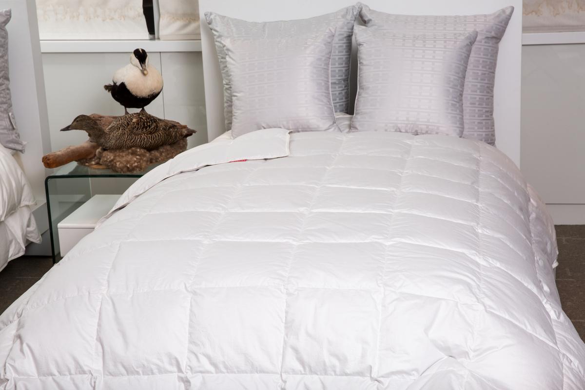 陳彥誠最引以為傲的自創品牌產品,是一床40萬元、世界最高等級的冰島雁鴨絨被等周邊產品。