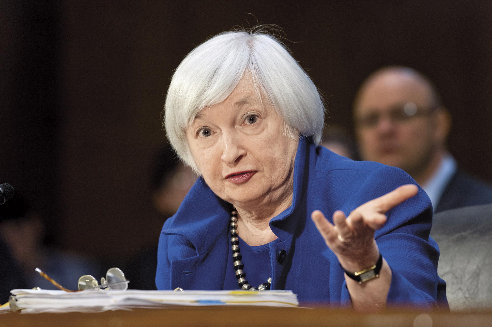 今年上半年美國聯準會對銀行的壓力測試,竟然所有銀行都過關。圖為聯準會主席葉倫。