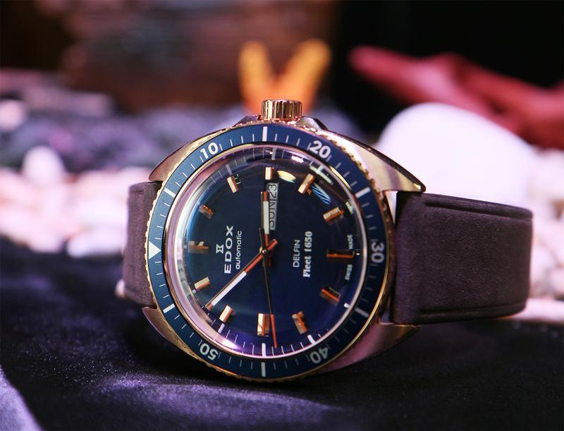 【錶壇焦點】青銅鮑魚殼!EDOX Delfin Fleet 1650限量錶