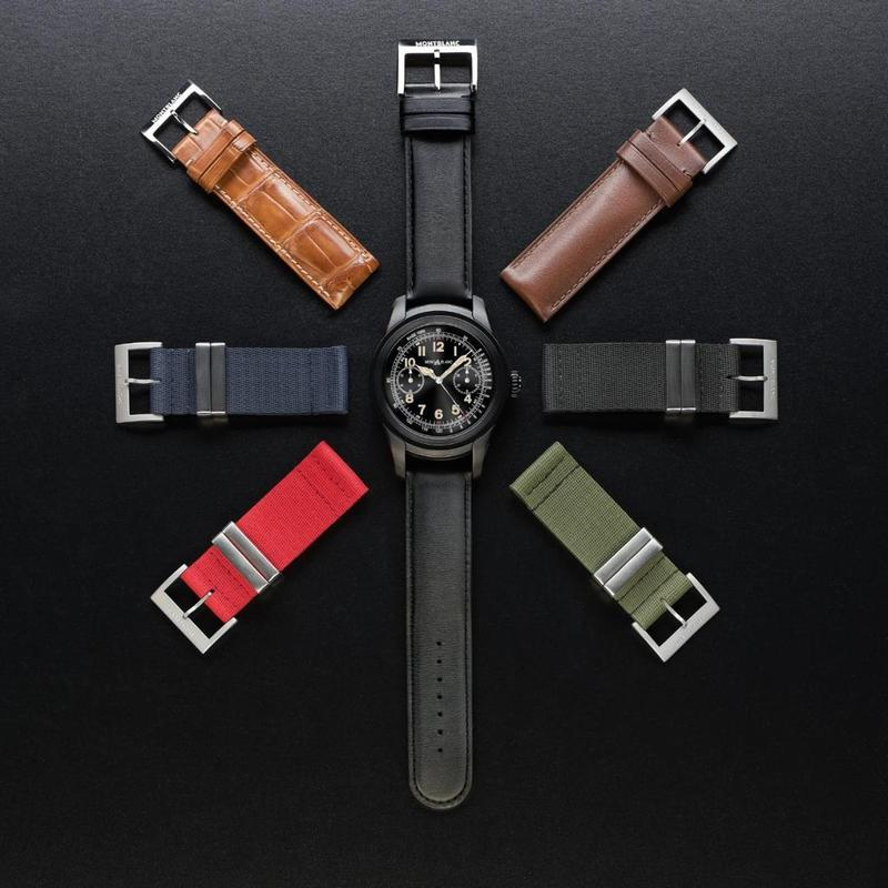Montblanc launched this year's first smart watch Summit, to 1858 series for the design inspiration, can change their own strap.