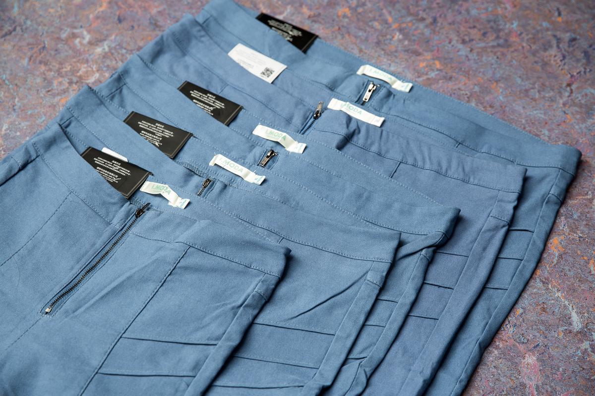 鉛筆褲是OB嚴選的熱賣商品,尺寸齊全,最大尺寸可達7L。